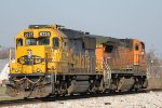 BNSF 518 leads bnsf 8725 on lite power north.
